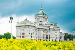 Der Thron Hall Ananta Samakhom in thailändischem königlichem Dusit-Palast, Bangkok, Thailand Lizenzfreie Stockfotografie