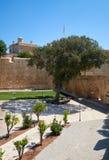 Der tiefe Abzugsgraben umgab De Redin Bastion - ein Teil des forti Stockfotos