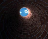 In der tiefen Grube Stockfoto
