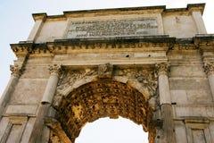 Der Titusbogen am Forum römisch Stockbild