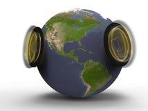 Der Ton von Planetenerde Lizenzfreie Stockfotos