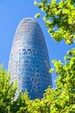 Der Torre Agbar Wolkenkratzer in Barcelona Lizenzfreie Stockfotos