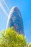 Der Torre Agbar Wolkenkratzer in Barcelona Stockfoto