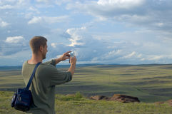 Der Tourist Stockbilder