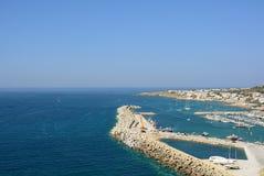 Der touristische Hafen stockbilder