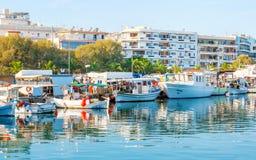Der touristische Hafen Stockfoto