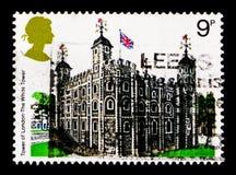 Der Tower von London, britische Architektur, historische Gebäude serie, circa 1978 Lizenzfreie Stockfotografie