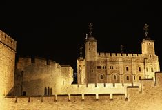 Der Tower von London, eine der ältesten Festungen in London Stockfotos