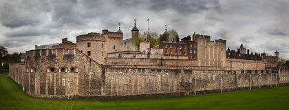 Der Tower von London, Großbritannien. Die historische Festung Stockfotografie