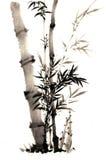 Der traditionelle alte chinesische handgemalte Bambus stockfoto