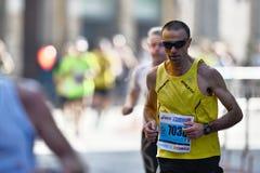 Der traditionelle jährliche Marathon in Florenz Stockbild