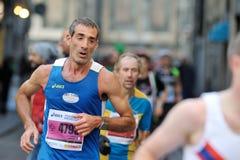 Der traditionelle jährliche Marathon in Florenz Stockfoto