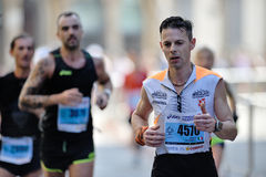 Der traditionelle jährliche Marathon in Florenz Ist in den Marathons der Spitze zwanzig eingeschlossen Stockfotografie