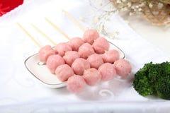 Der traditioneller Chinese-Lebensmittelgarnelenfleischball Stockfotos