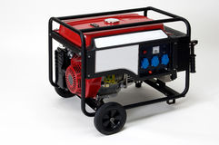 Der tragbare elektrische lokalisierte Generator, läuft es auf Benzin Lizenzfreies Stockfoto
