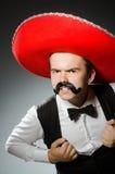 Der tragende Sombrerohut der Person im lustigen Konzept Lizenzfreie Stockbilder