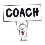 Der Trainer lizenzfreie abbildung