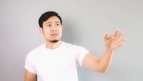 Der traurige Mann, der Hand wie nicht erreicht, ließ ihn zurück Lizenzfreies Stockbild