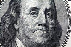 Der traurige Präsident von Amerika Stockbild