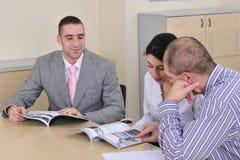 Der Treffenherstellung und -darstellung Stockfotos