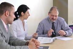 Der Treffenherstellung und -darstellung Lizenzfreie Stockfotos