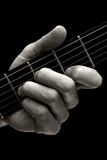 Der Tristan-Akkord auf Gitarre (höher vier Schnüre) Lizenzfreies Stockbild