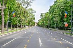 Der Triumphbogen Arcul de Triumf von Bukarest Rumänien Lizenzfreie Stockfotos