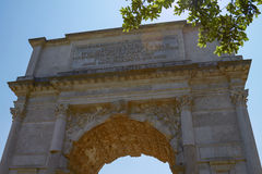 Der Triumphbogen von Titus in Rom Italien Lizenzfreie Stockfotos