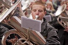 Der tuba-Spieler Lizenzfreie Stockbilder