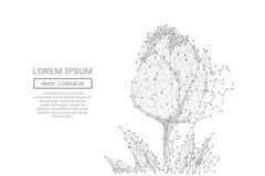 Der Tulpe Polygrau niedrig stock abbildung