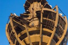 Der Turm beschädigt durch Krieg Lizenzfreie Stockfotografie