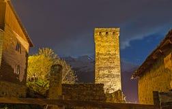 Der Turm in den Lichtern Lizenzfreie Stockfotografie