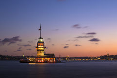 Der Turm des Mädchens (Istanbul) Stockbild