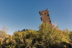 Der Turm des Schlosses von Vernazzano, Tuoro-Umbrien Stockfoto