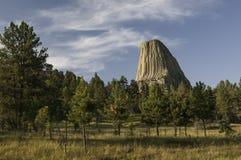 Der Turm des Teufels in nordöstlichem Wyoming Lizenzfreie Stockfotos