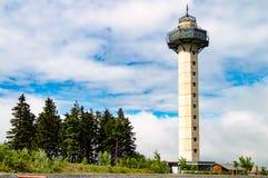Der Turm am Hügel Pechberg Stockbilder
