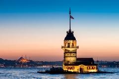 Der Turm Istanbul-Mädchens Lizenzfreie Stockbilder