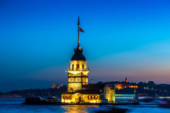 Der Turm Istanbul-Mädchens Lizenzfreies Stockbild