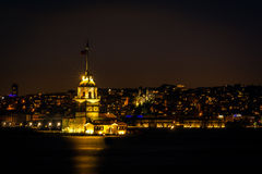 Der Turm oder das Kiz-kulesi des Mädchens in Istanbul, die Türkei Lizenzfreie Stockfotografie