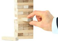 Der Turm von den Holzklötzen Stockbilder