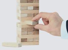 Der Turm von den Holzklötzen Stockfotos
