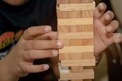 Der Turm von den Holzklötzen Lizenzfreies Stockfoto