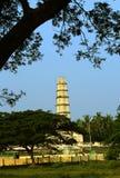 Der Turm von Manora-Fort mit Baumasten Stockbilder