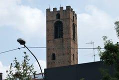 Der Turm von Mozzanica stockfoto