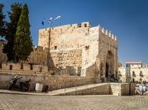 Der Turm von Phasael - Teil des Turms von David Museum in Jerusalem Lizenzfreie Stockfotos