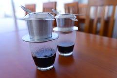 Der typische vietnamesische Kaffee lizenzfreies stockfoto
