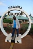 Der Uganda-Äquator lizenzfreie stockfotografie