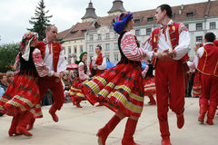 Der ukrainische Tanz Stockfotos