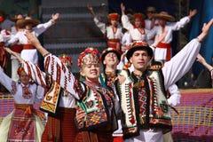 Der ukrainische Tanz Stockfoto