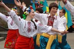 Der ukrainische Tanz Lizenzfreie Stockfotografie
